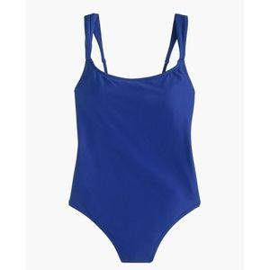 J.Crew Wide-Strap One-Piece Swimsuit Size 0 Blue